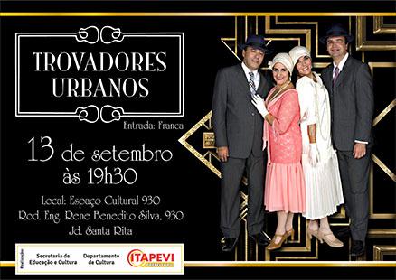 """""""Trovadores Urbanos"""" se apresentam em Itapevi na sexta-feira (13)"""